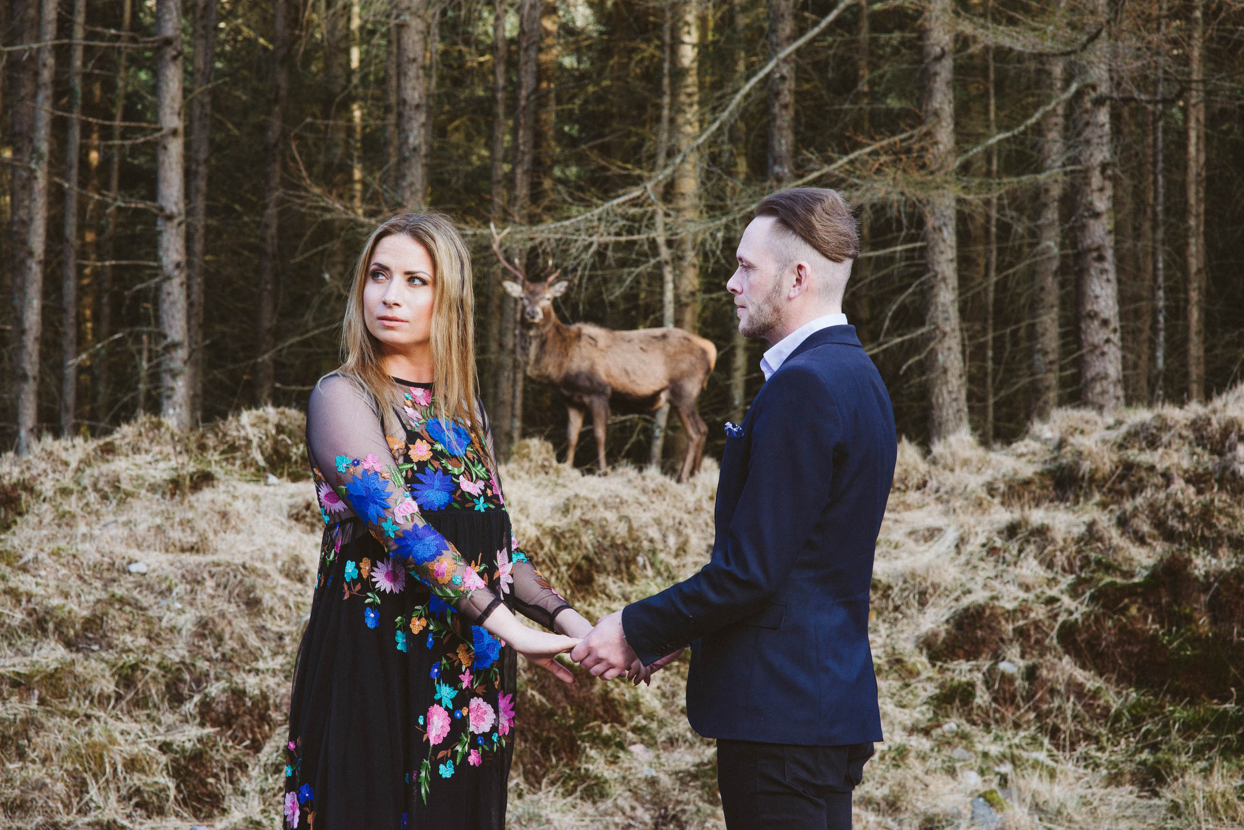 Engagement shoot in the Scottish Highlands