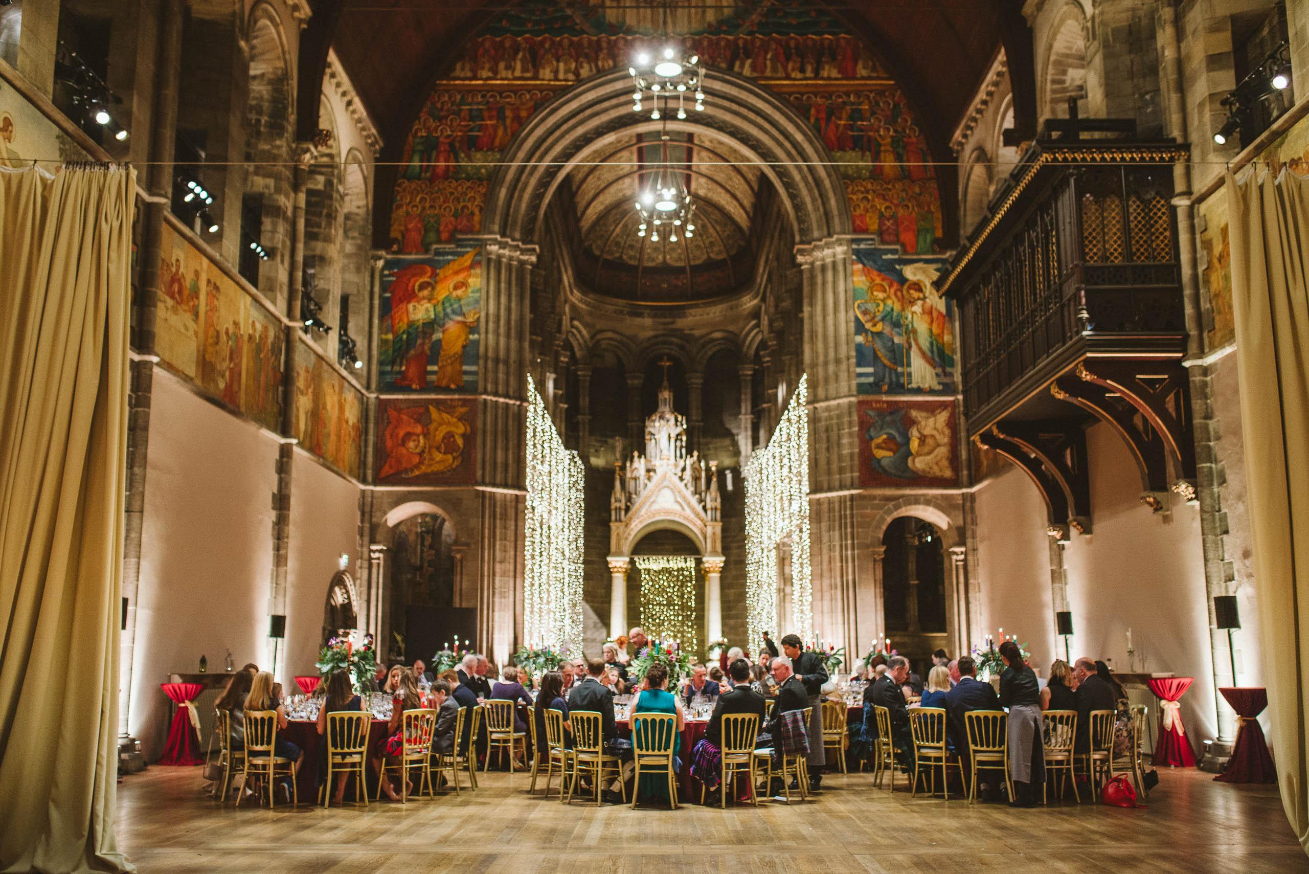 Gorgeous view of ceremony hall at Mansfield Traquair Edinburgh