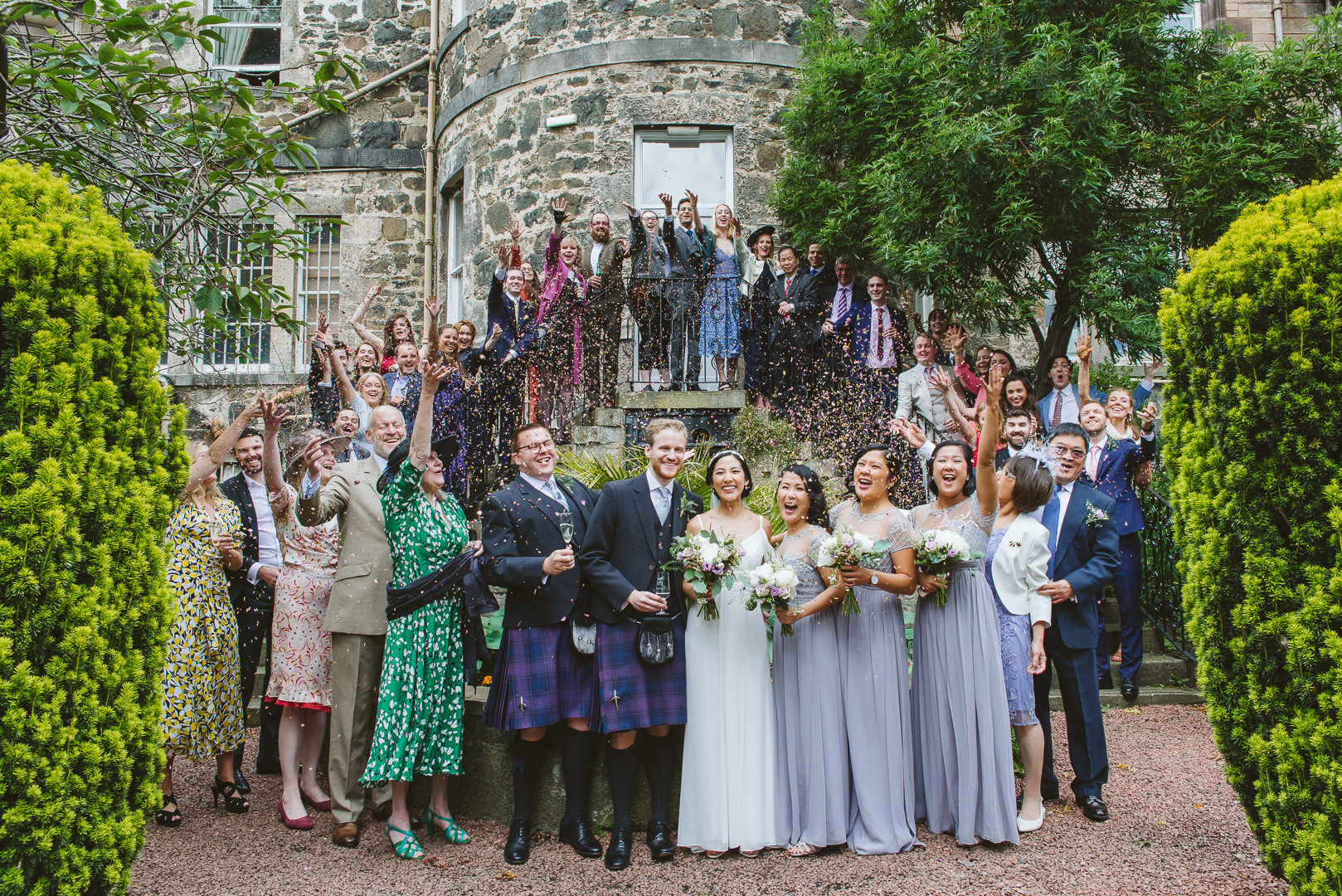 Confetti Group Shot - From my best wedding photos from 2019