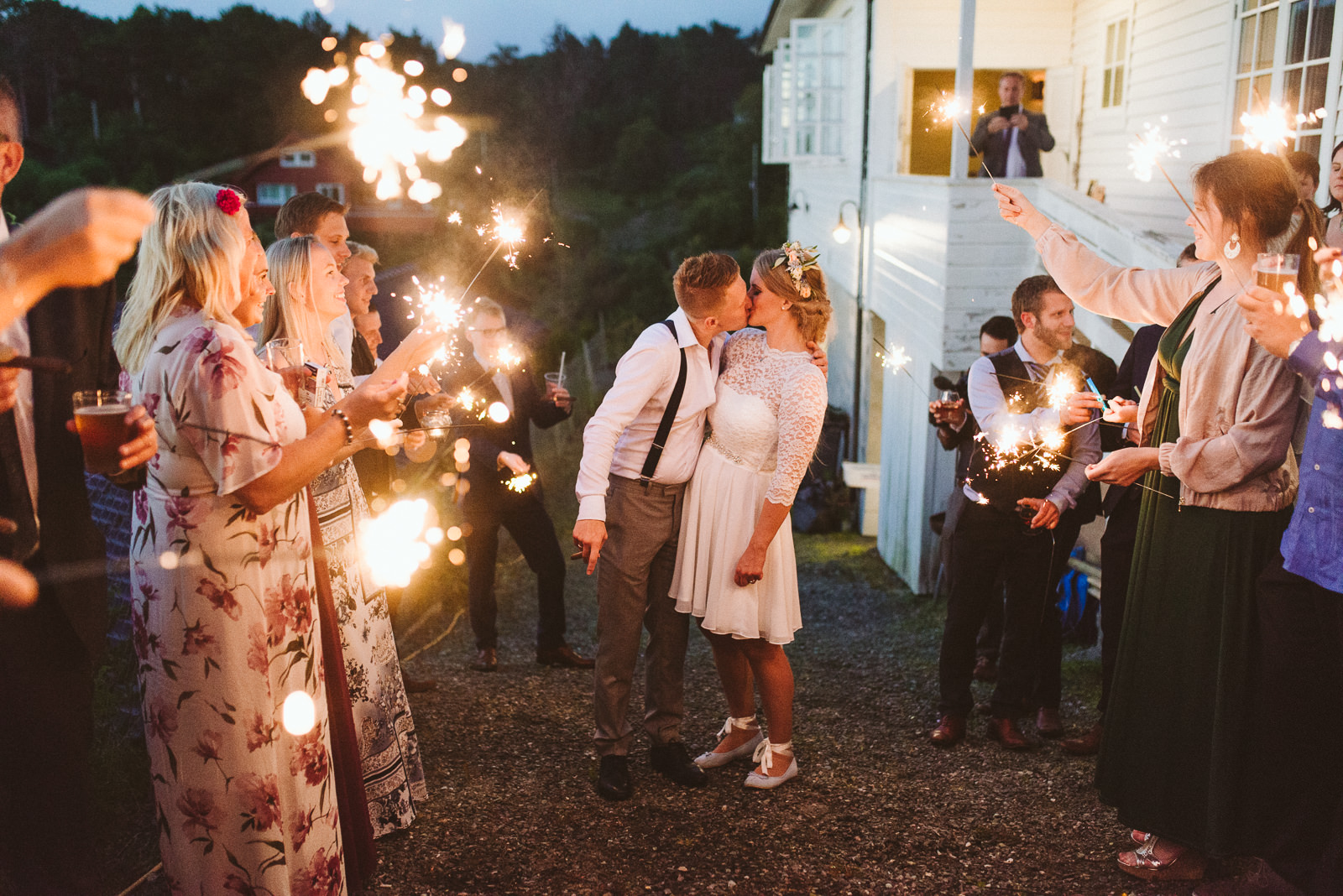 Sparklers as addition to or alternative to confetti