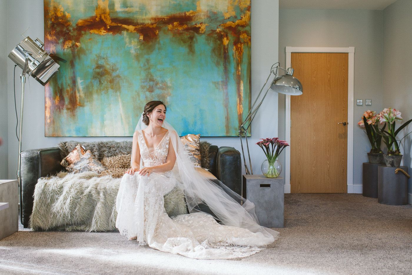Gorgeous bridal prep photos